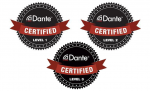 certification Dante Level 1 - 3